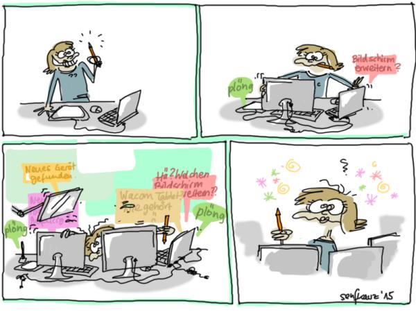 Der Kampf mit der Technik